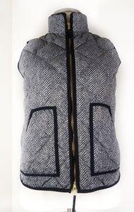 J. Crew Herringbone Zipper Front Vest